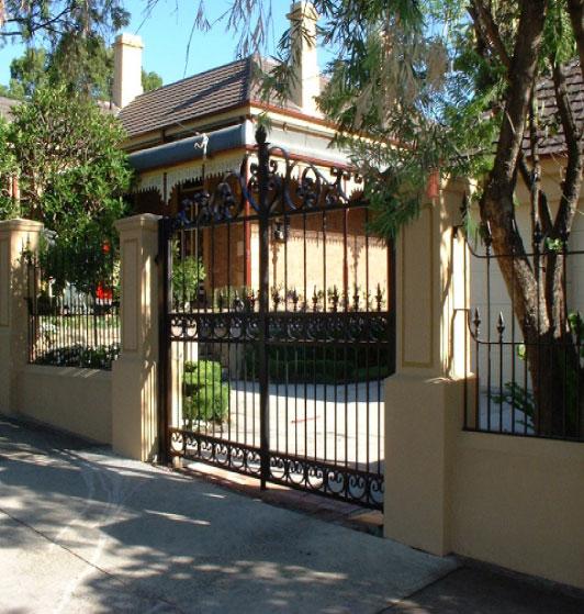 Ornamental iron doors, fences, gates, Custom Fence Company